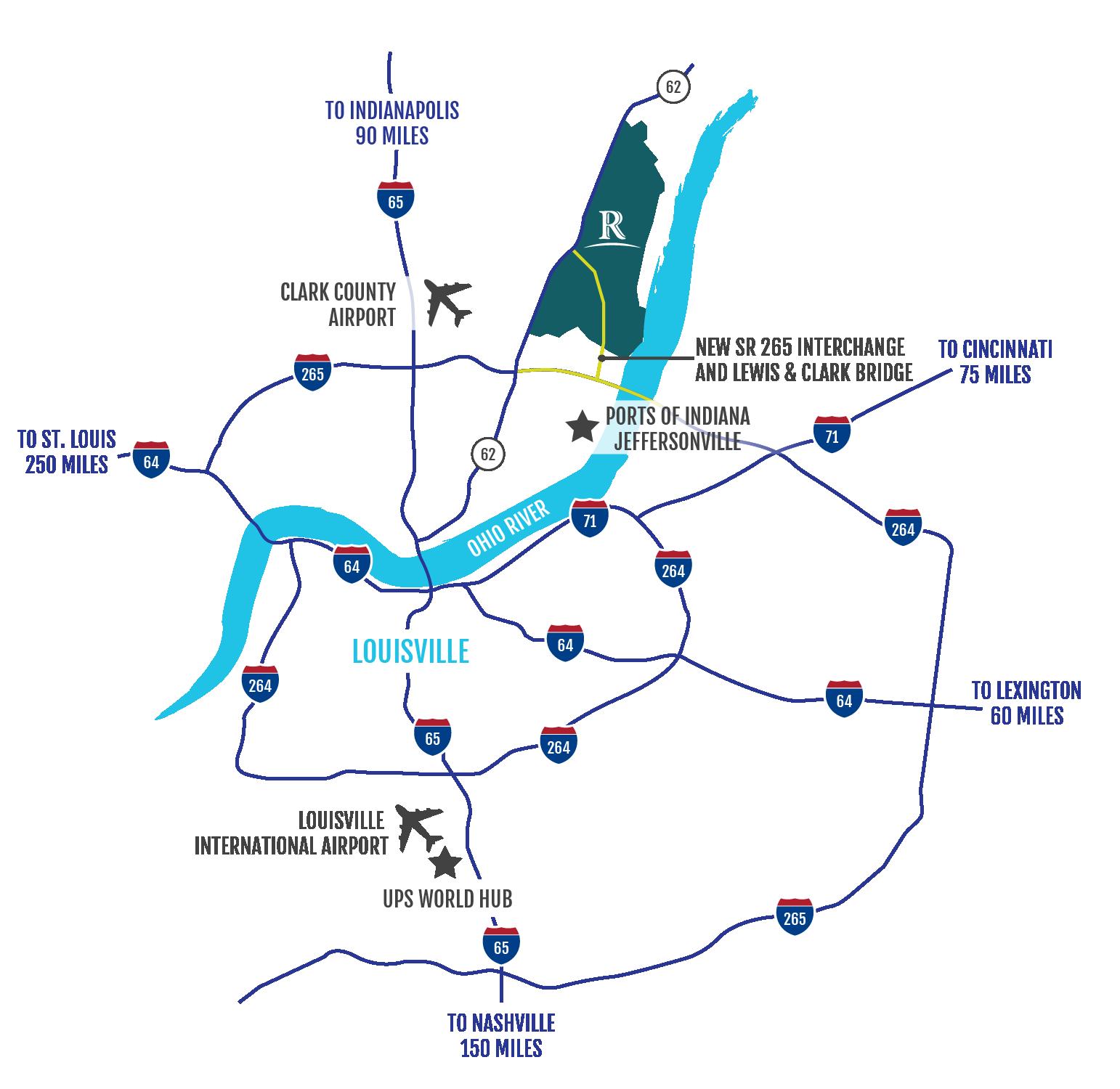 river ridge vicinity map
